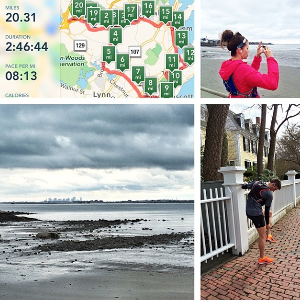 A montage from our 20 mile training run.