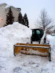 The only real way to clear snow.